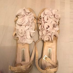 Kelsi Dagger cream sandals size 8.5